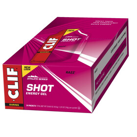 CLIF Bar Shot Gel Box Razz/Himbeere 24x34g